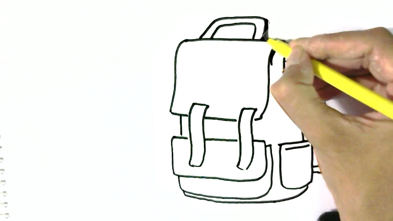 1280x720 How To Draw School Bag In Easy Steps For Children. Beginners