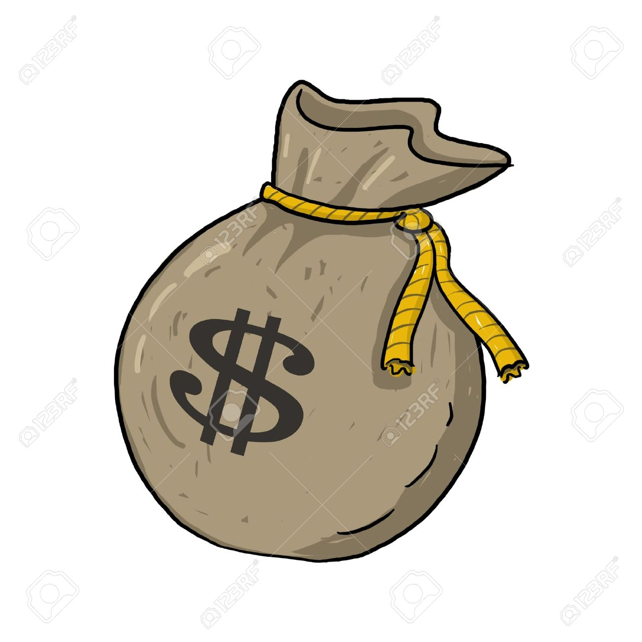 1300x1300 Sack Of Money With Dollar Sign Illustration Green Sack Of Money