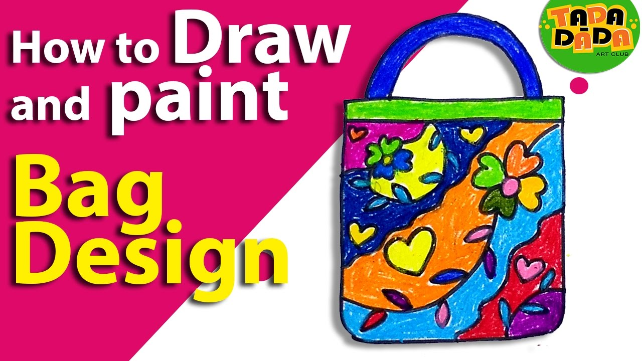 how to draw a bag step by step