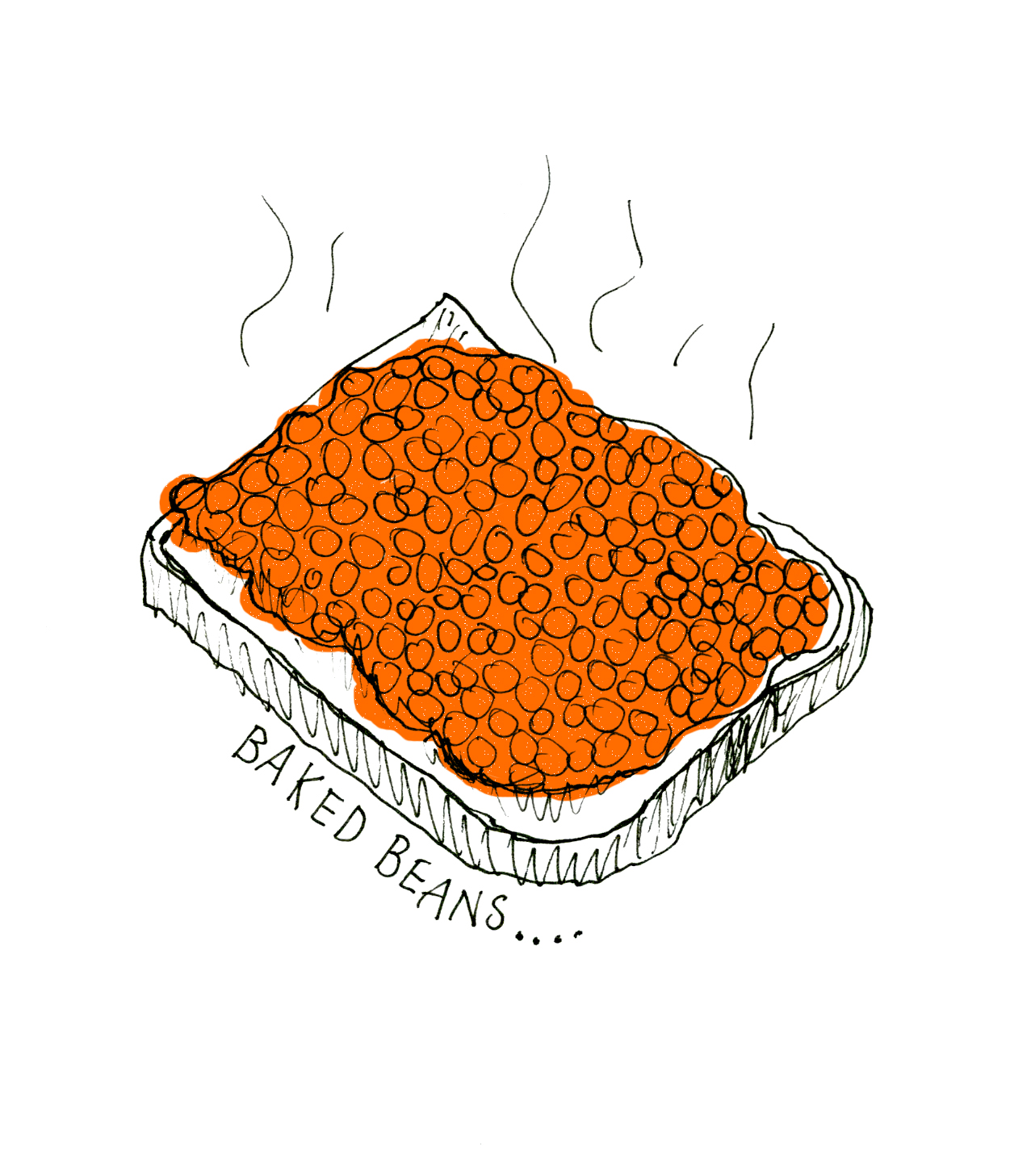 1282x1457 Day 10 Baked Beans Drawing A Day Challenge Beans