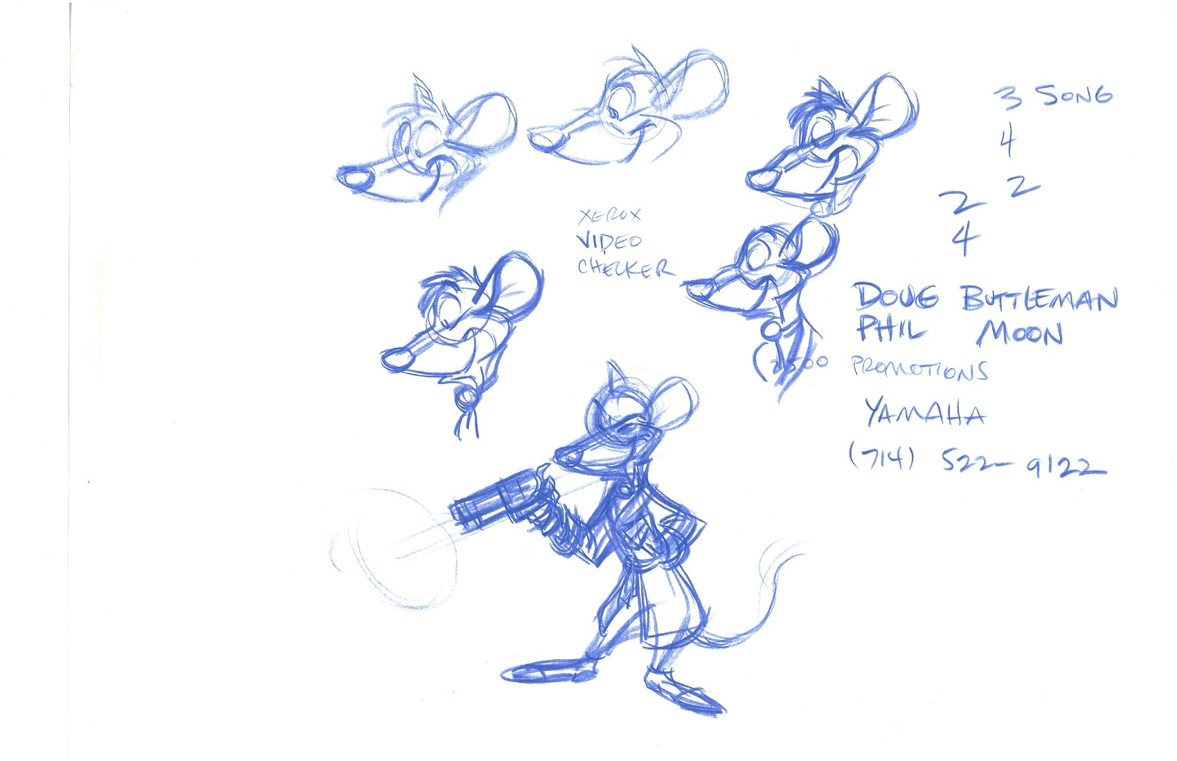 1700x1100 Basil Of Baker Street (The Great Mouse Detective) Studio Drawing