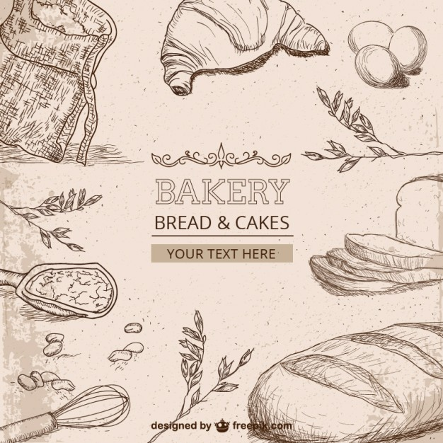 626x626 Bakery Drawings Vector Free Download