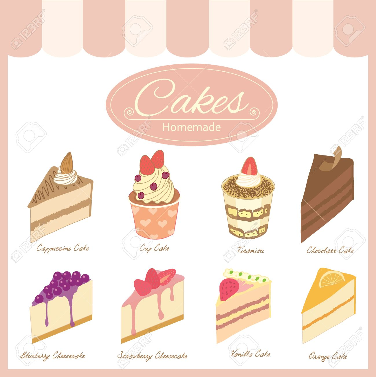 1299x1300 Drawing Bakery Cafe.the Cakes Show On Shop Window And Decorate