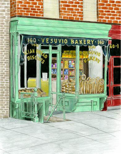 391x500 Vesuvio Bakery Drawing Bakeries, Draw And Illustrators