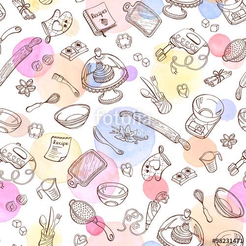 Baking Tools Drawing At Getdrawings Com Free For