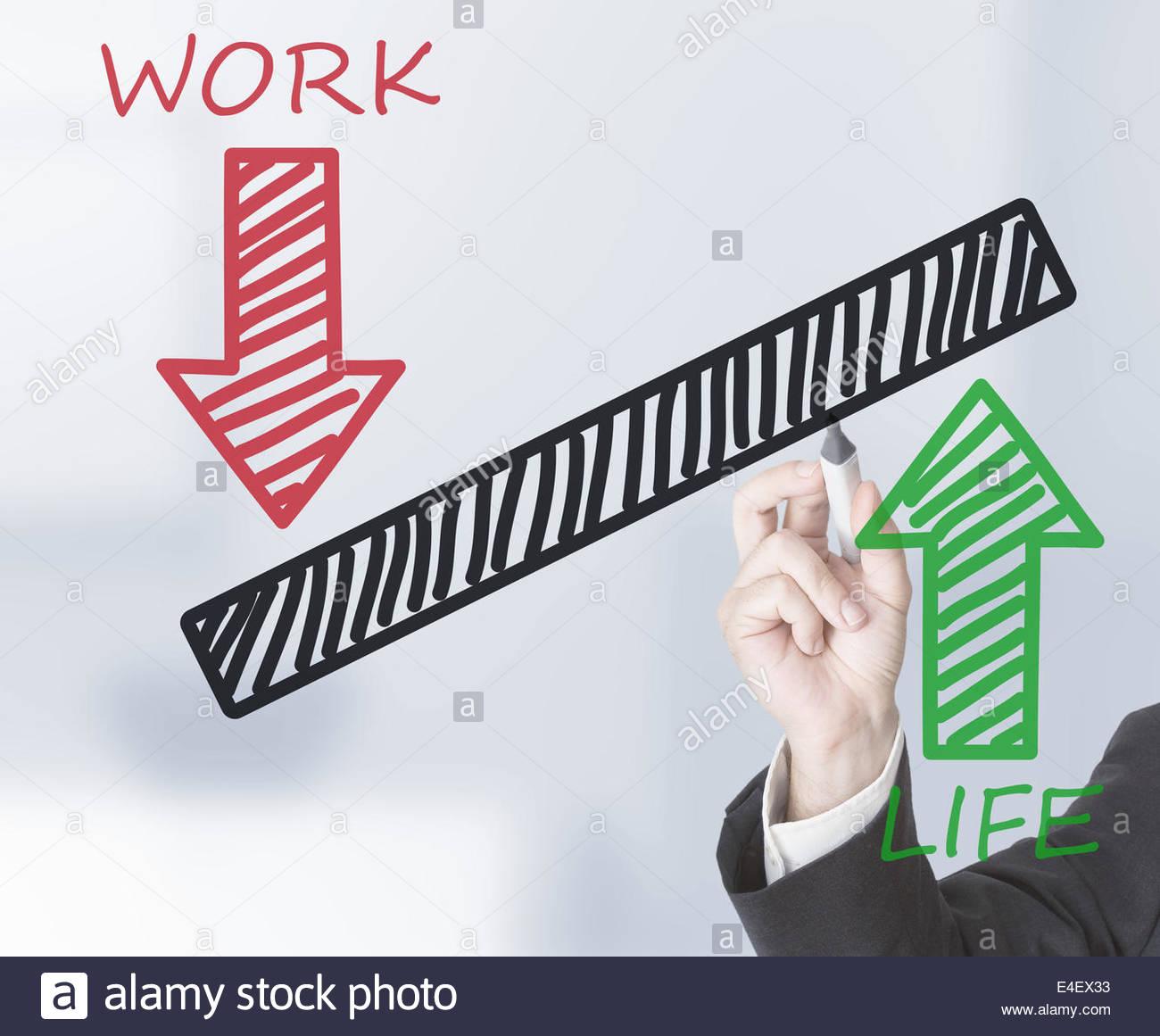 1300x1161 Businessman Drawing Life Work Balance Scale Stock Photo 71627895