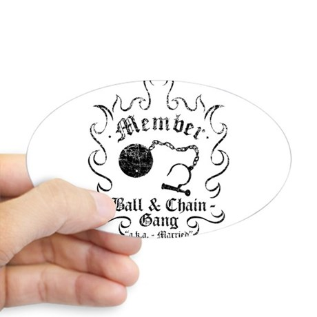 460x460 Ball And Chain Stickers Cafepress