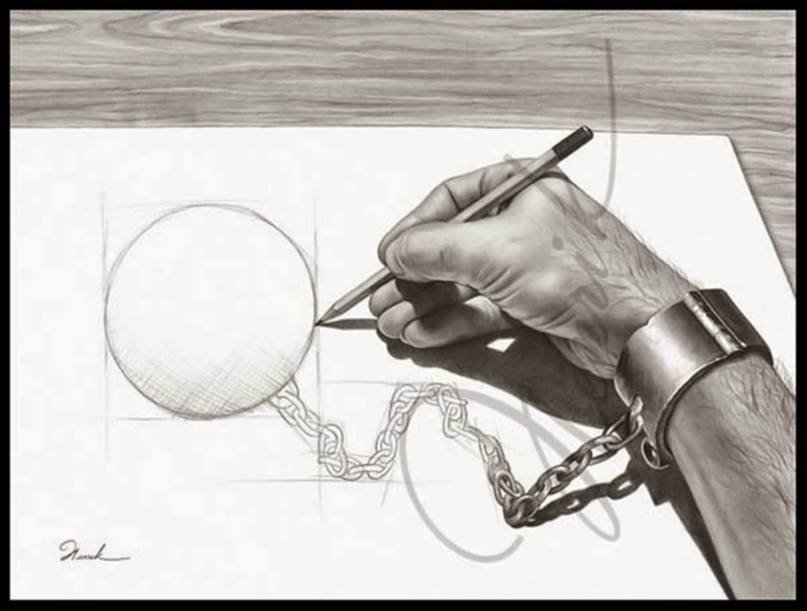 1600x1211 Funny Chain Ball Drawing Picture For Facebook