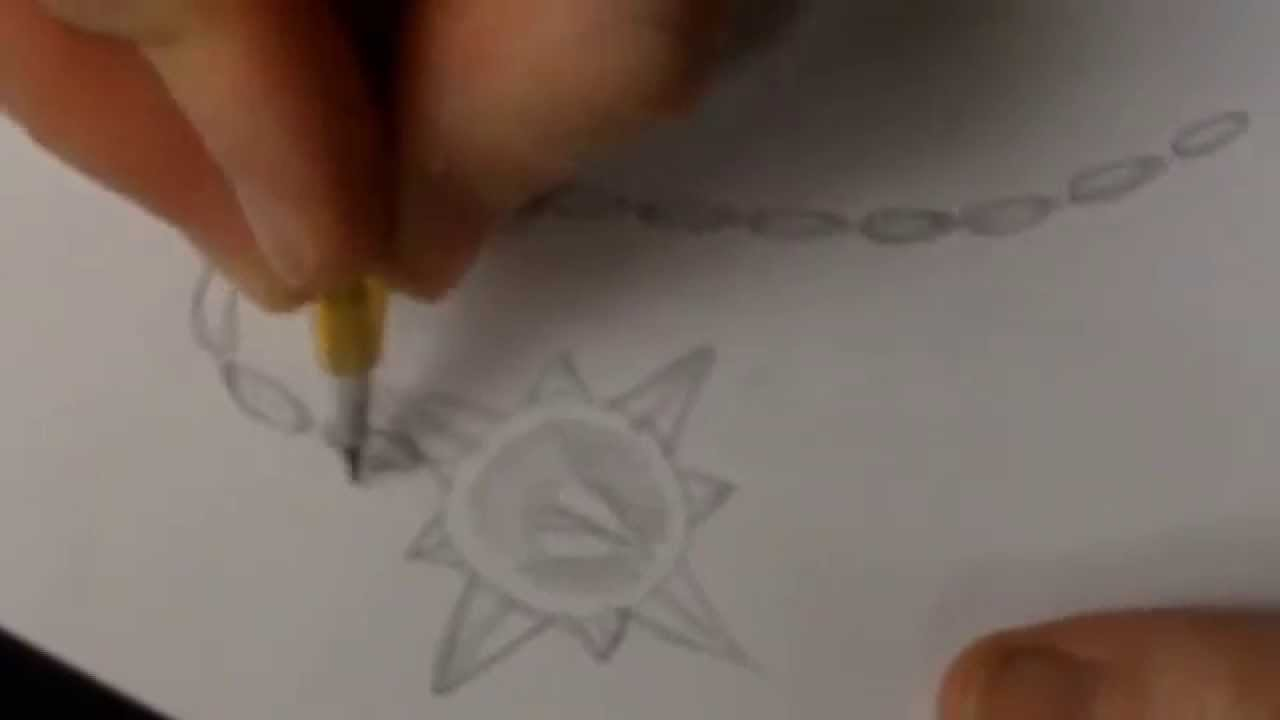1280x720 How To Draw Spike Ball And Chain