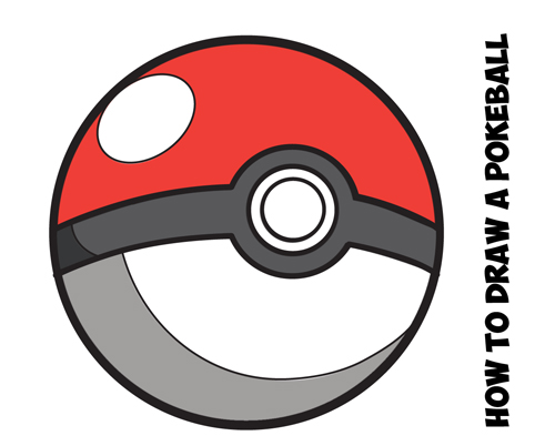 500x402 How To Draw A Pokeball From Pokemon