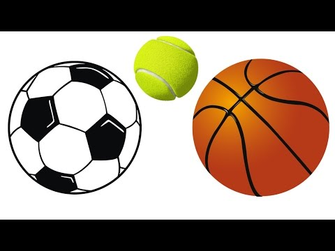 480x360 How To Draw Soccer Ball, Basketball, Tennis Ball Easy Drawing