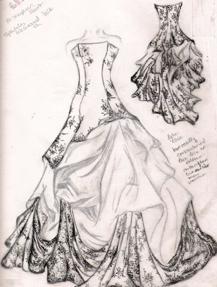 736x973 Ball Gown Drawing Wedding Dress