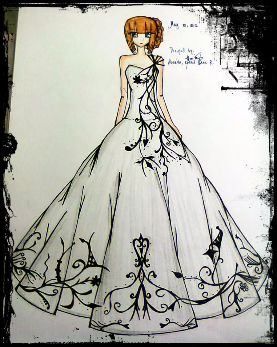 900x1126 Black And White Ball Gown By Bethzabonitz