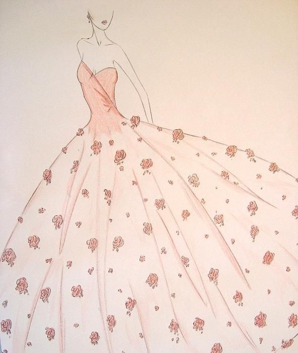 Ball Gowns Drawing At Getdrawings