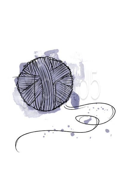 399x600 Ball Of Yarn Watercolor Style Tattoos Yarns