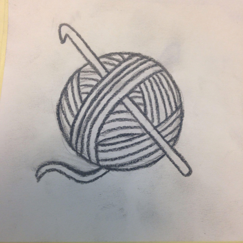 2448x2448 Crochet Hook And Yarn Ball Tattoo Idea Ink Yarn