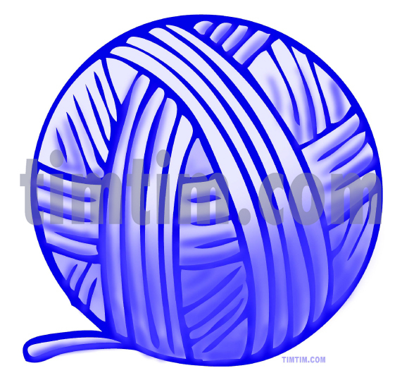 571x539 Free Drawing Of Ball Of Blue Yarn From The Category Hobby Amp Sewing