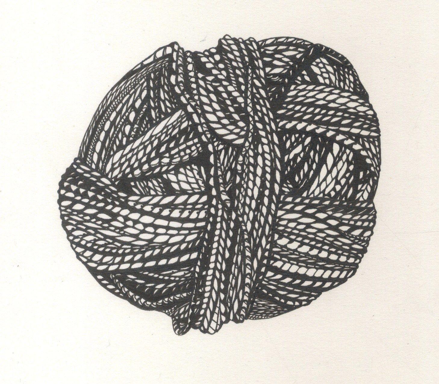 1458x1275 Ball Of Yarn Drawing