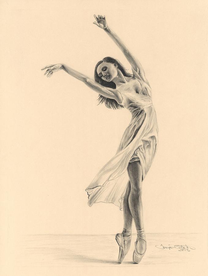 Ballerina Charcoal Drawing At Getdrawings