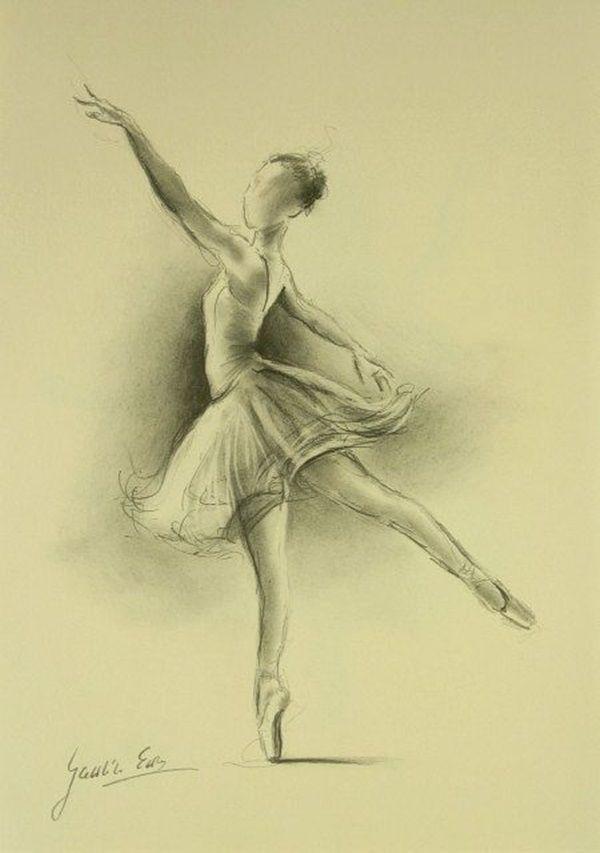 600x853 40 Stunning Ballerina Drawings Sketches Ballerina, Draw