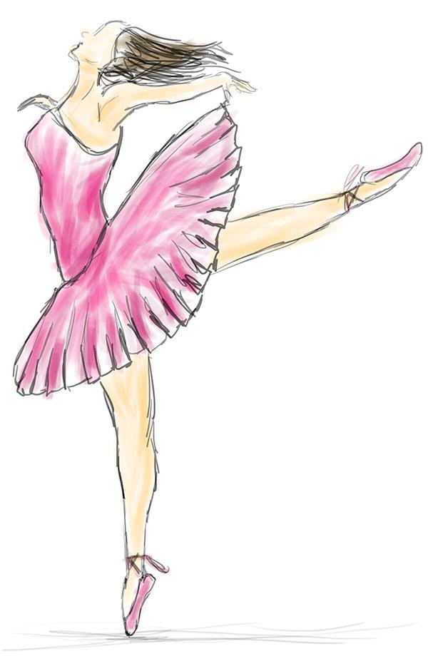 600x927 Ballerina Drawing On Behance
