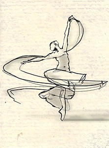 222x300 Ballerina Drawings Fine Art America