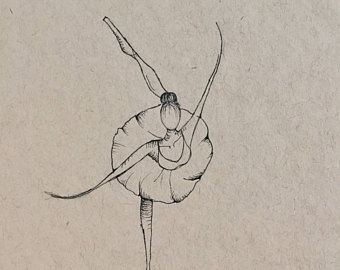 340x270 Ballerina Drawing Etsy