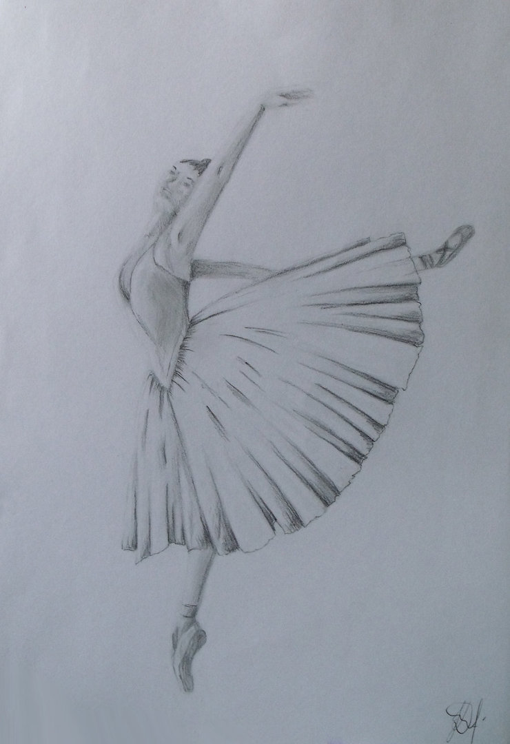 740x1080 Ballerina Drawing By Ingridadomeikyte