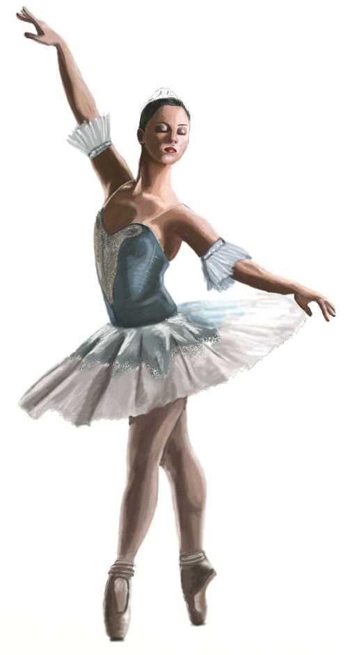 500x940 How To Draw A Ballerina