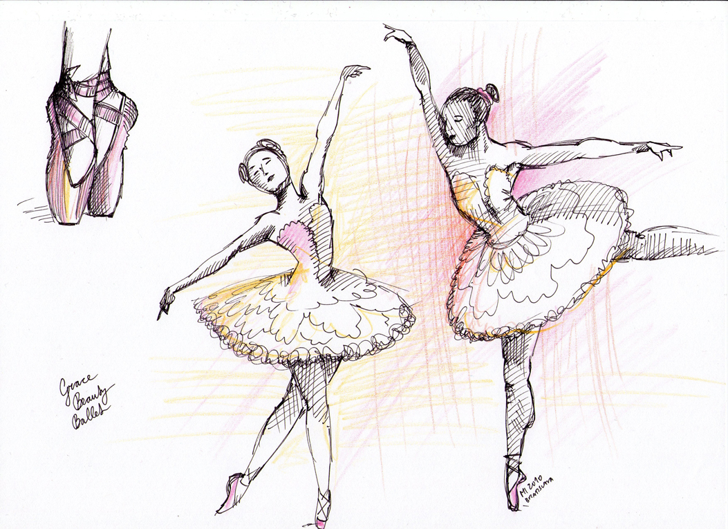 1053x765 Ballerina Drawing The Daily Doodles Of Kitteh Mia