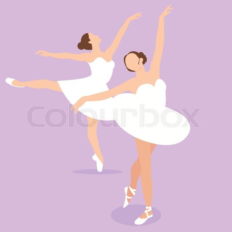 800x800 Ballerina Girl Ballet Pose Dance Action Perform Illustration