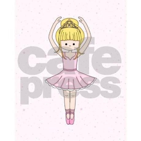 460x460 Cute Blonde Ballerina Girl Twin Duvet By Artformtheheart