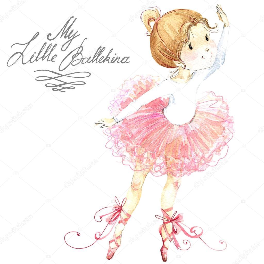 1024x1024 Cute Girl. Ballerina. Cute Ballerina Girl. Ballerina Watercolor