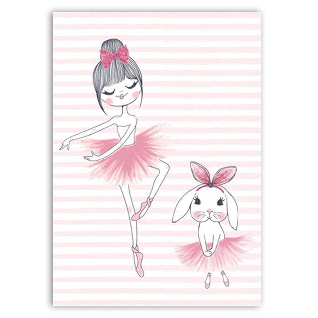 640x640 Online Shop Nordic Cute Elephant Ballerina Dancing Art Print
