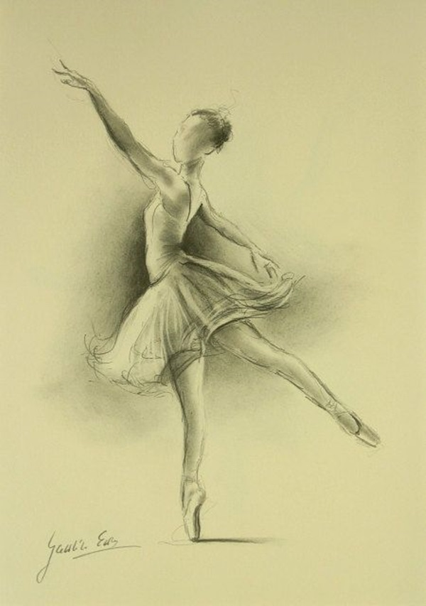 600x853 40 Stunning Ballerina Drawings And Sketches