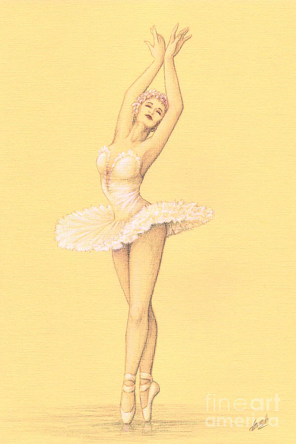 600x900 Ballerina I Drawing By Enaile D Siffert