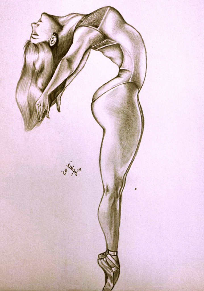 718x1024 Pencil Drawings Of Ballerinas Original Drawing For Sale The Young