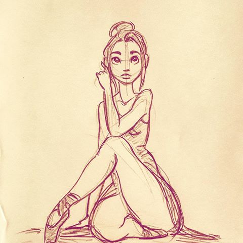 Ballerina Poses Drawing at GetDrawings com | Free for
