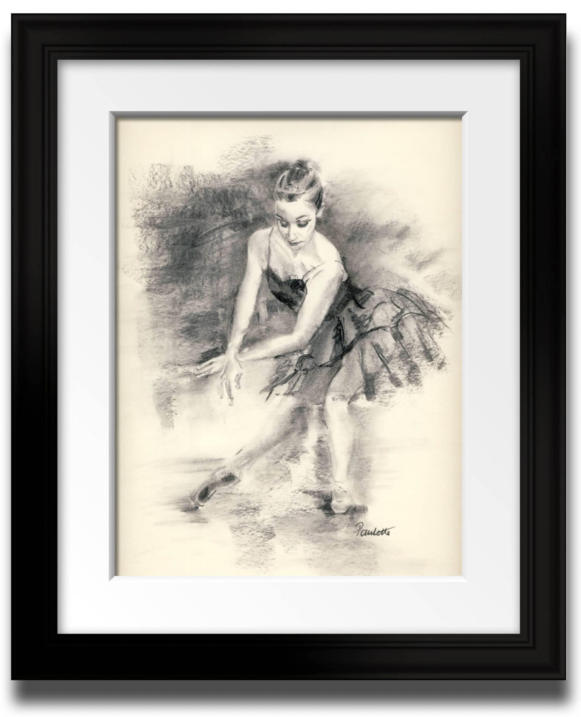 1920x2369 Saatchi Art Ballerina Pose Drawing By Paulette Farrell