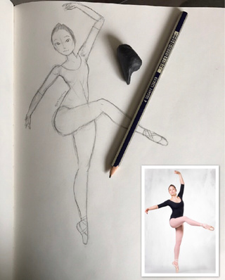 320x398 Ballerina Drawings On Paigeeworld. Pictures Of Ballerina