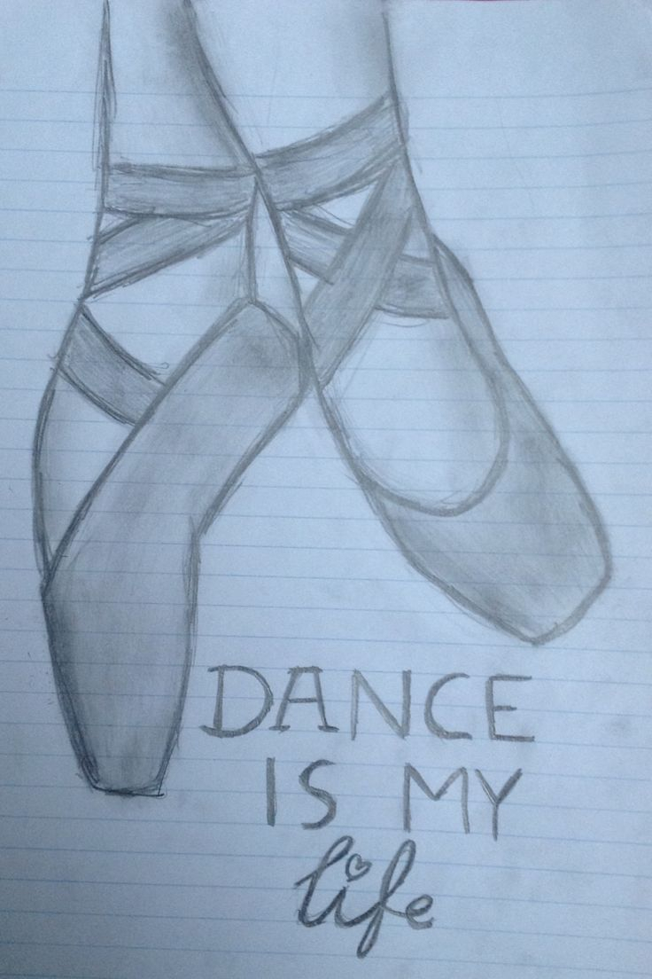 Ballerina Shoes Drawing at GetDrawings