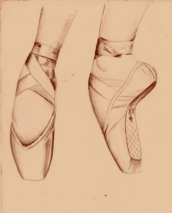 574x713 With A Pair Of Ballet Shoes By Livholland