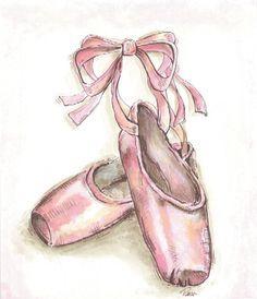 236x274 Ballet Shoe Illustrations