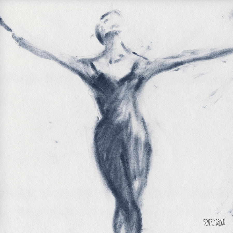 900x900 Ballet Sketch Open Arms Drawing By Beverly Brown Prints