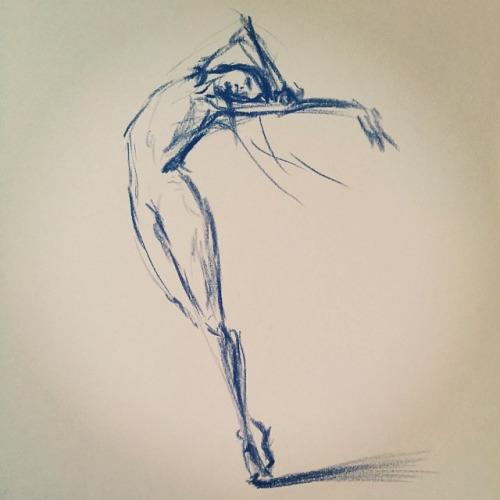 500x500 Ballet Dancer Drawing