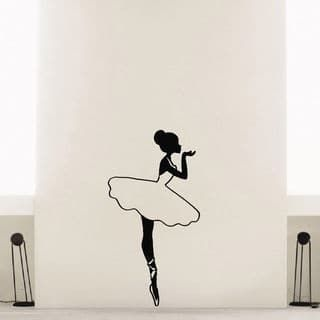 320x320 Ballerina Ballet Dancer Vinyl Wall Art Decal Sticker Ballet