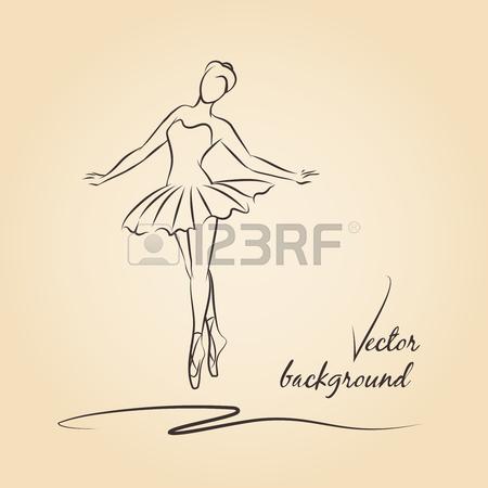 450x450 Sketch Of Ballerina. Expressive Performance Girl Ballet Drawing