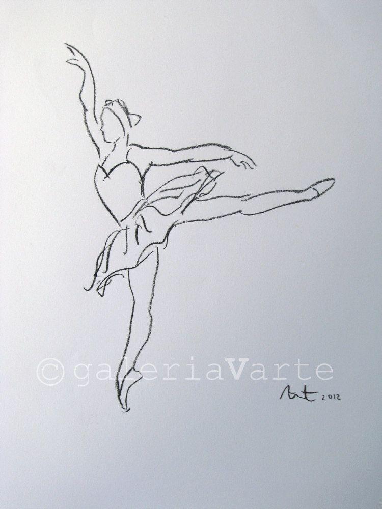 750x1000 Ballet Drawing