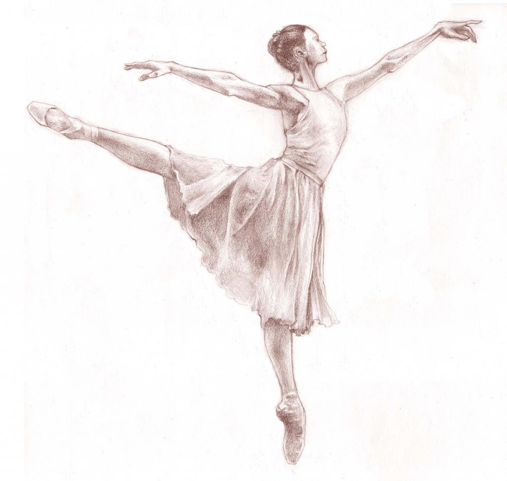 1024x970 Pencil Sketches Of Ballerinas Drawing Of Ballet Dancer