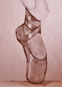215x300 Ballet Pointe Shoes Drawings Fine Art America
